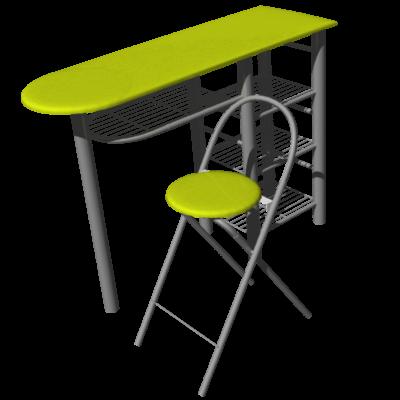 Mod lisation 3d infernal quack - Table de cuisine pour studio ...