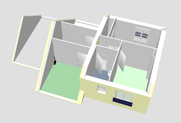 Mod lisation 3d infernal quack for Sweet home 3d maison a etage