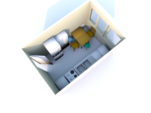 Modele cuisine sweet home 3d pr l vement d for Modelisation maison 3d