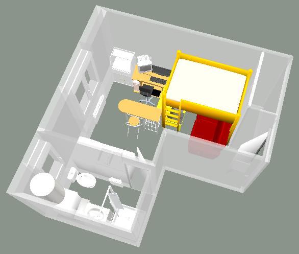 Un bureau informatique pour sweet home 3d infernal quack for Meubles sweet home 3d